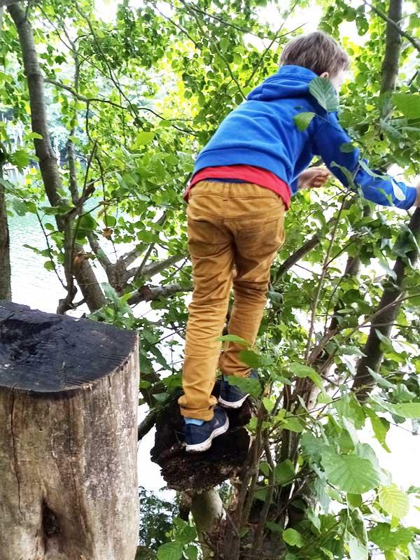 Klischee Jungs - Abenteuer beim Klettern im Baum