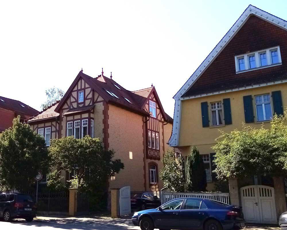 Schöne Häuser in Weimar