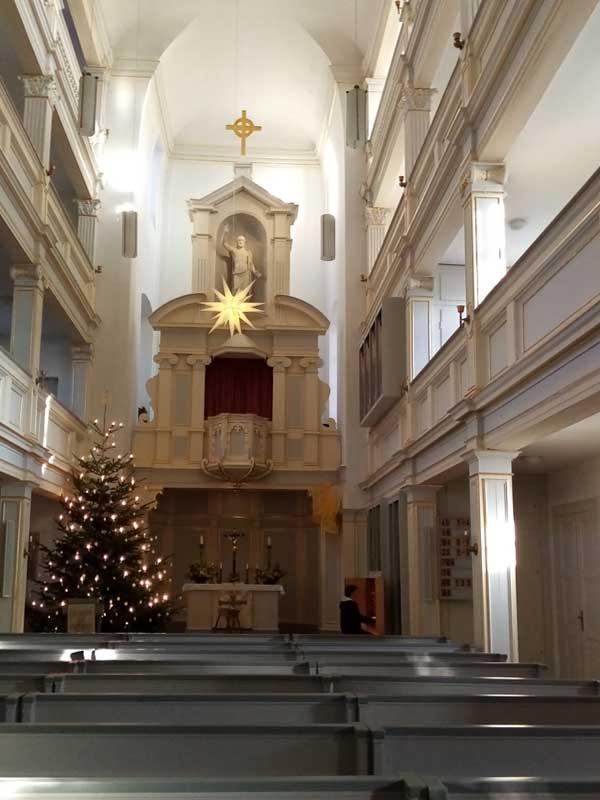 Jakobskirche in Weimar zur Weihnachtszeit