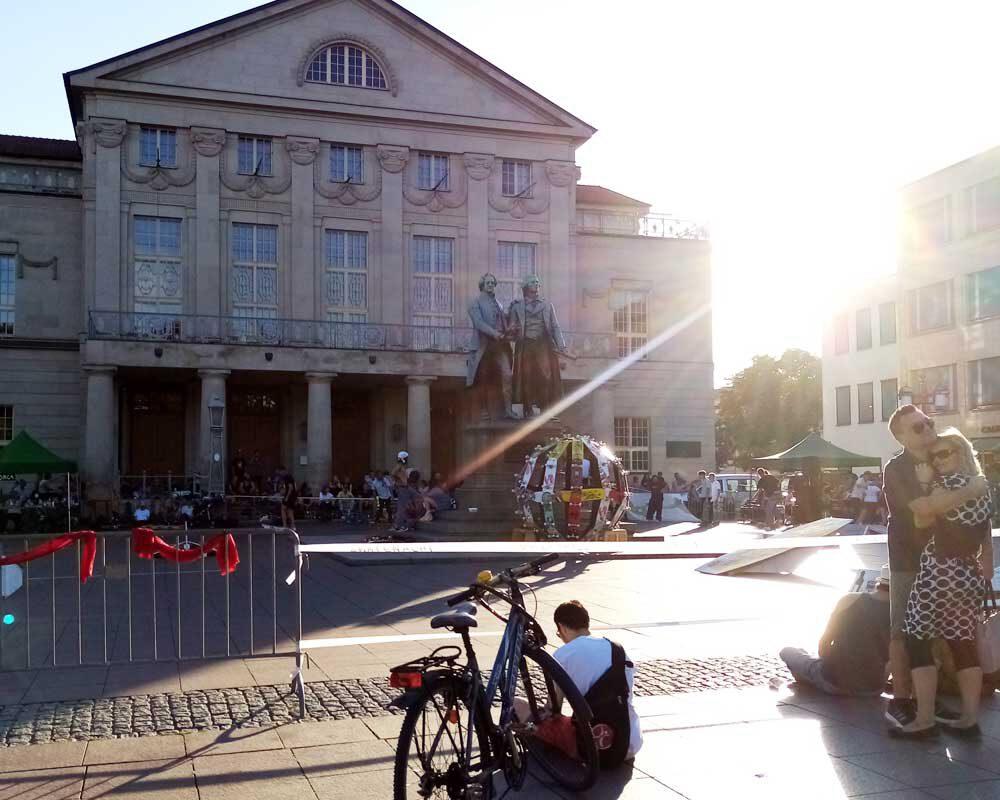 Skatenight in Weimar am Theaterplatz