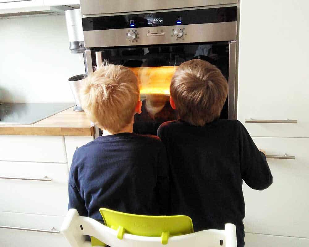 Zwei hungrige Kerlchen warten auf das Piepsen.