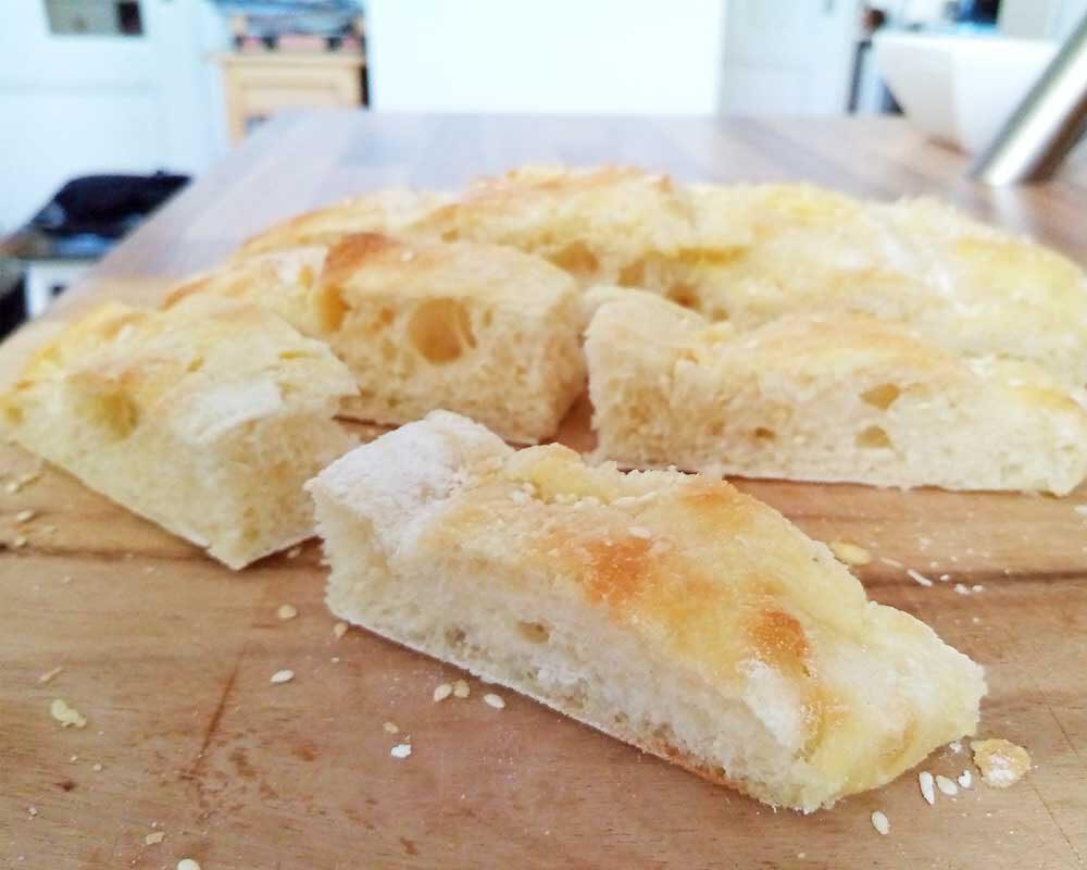 Fladenbrot frisch aus dem Ofen