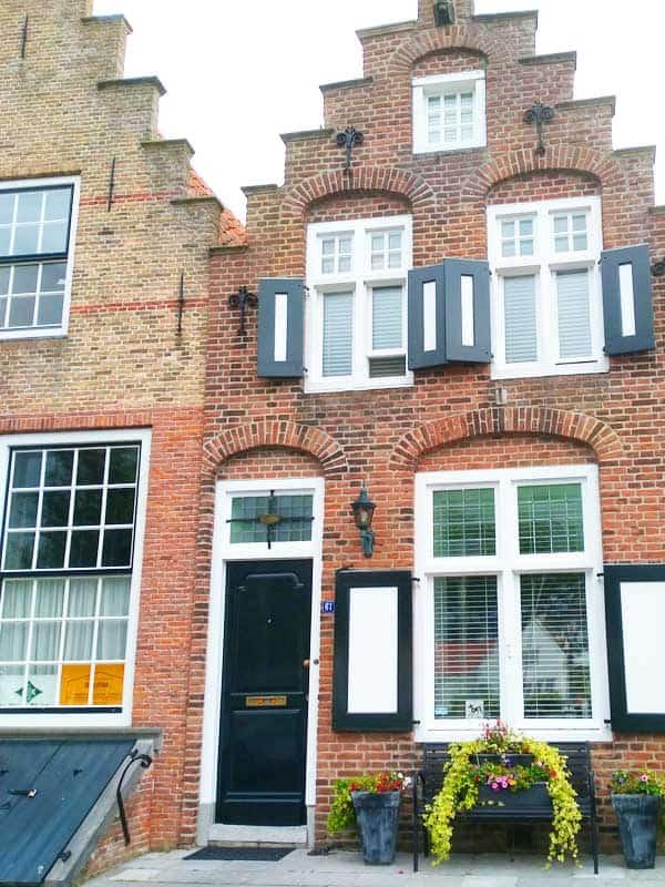 Typische Häuser in Veere