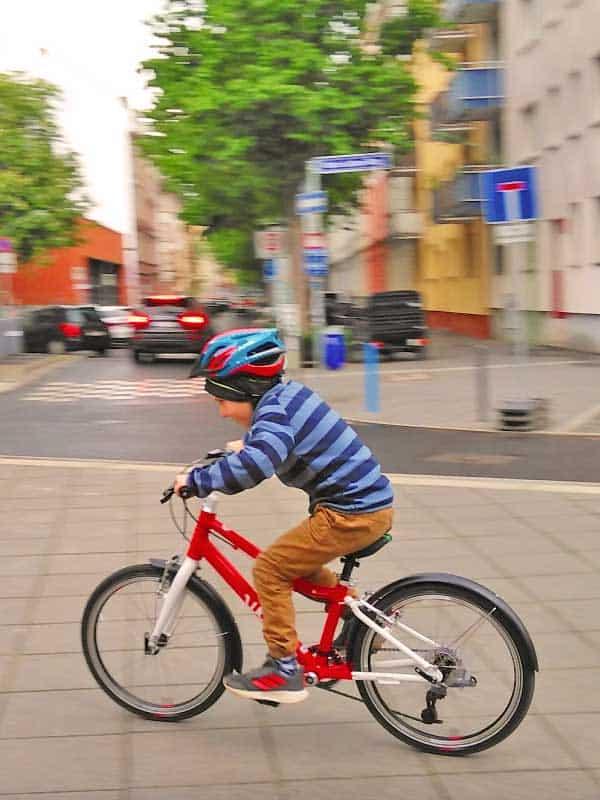 Radfahren mit dem Woom