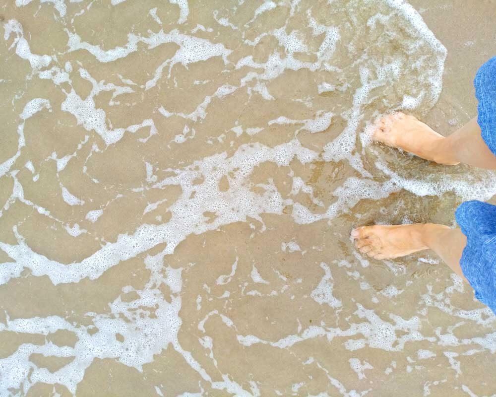 Fünf Sinne - Füße im Sand