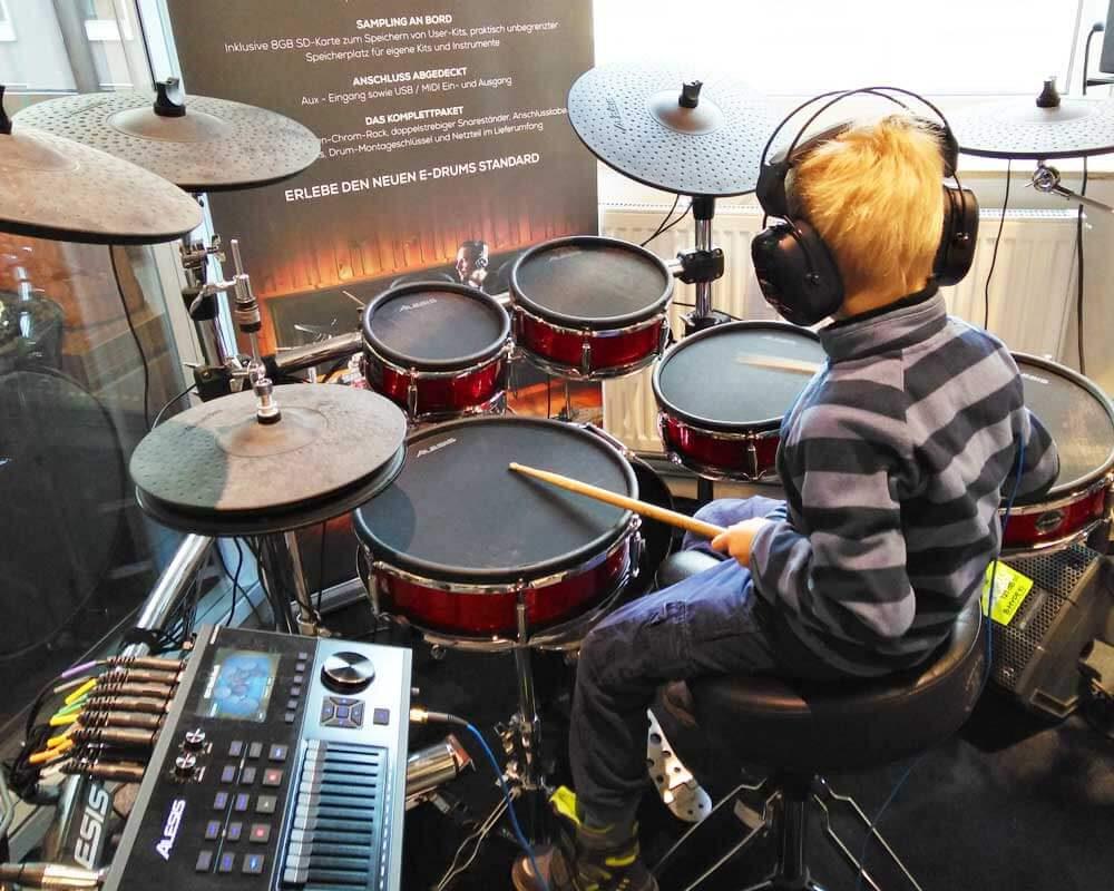 Schlagzeug spielen macht richtig Spaß